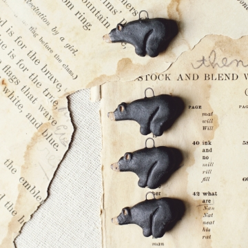 black bear charms