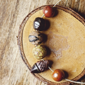 forest floor bead set