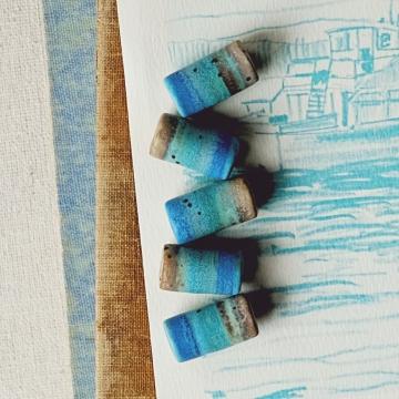 Ocean tube beads