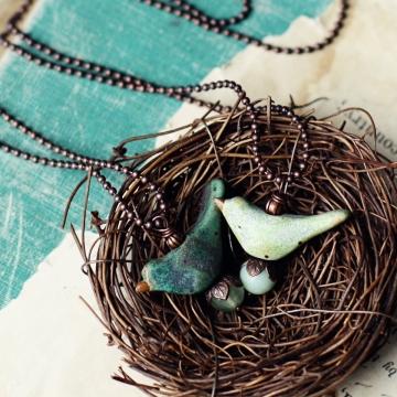 earth birds- necklaces