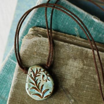 spring unfurling- fiddlehead fern necklace