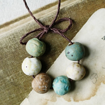 rustic pebble beads