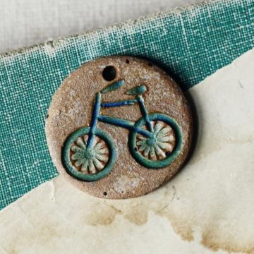 blue earth bicycle charm
