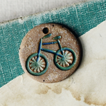 blue earth bicycle charm