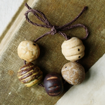 rustic and whimsical bead set
