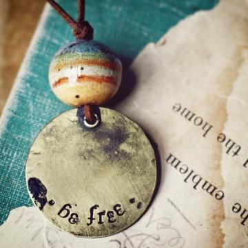 be free- landscape necklace
