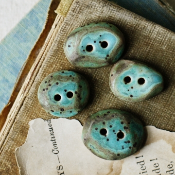 skipping stones- ceramic buttons