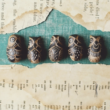 carve tribal owl beads