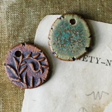 fern earring charms
