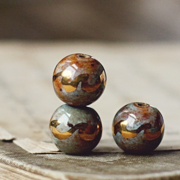 gold wave beads