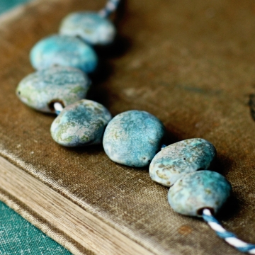 speckled beach stone beads