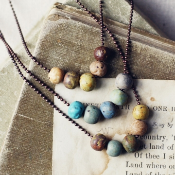 rustic pebble necklaces