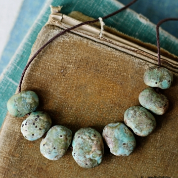 mossy stone beads