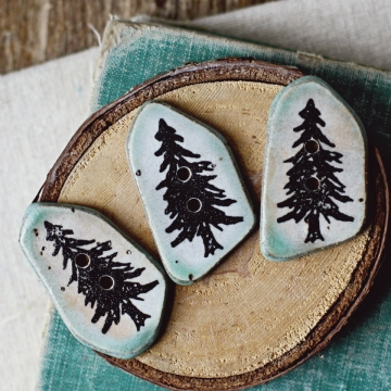pine buttons