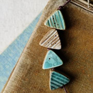 boho triangle beads