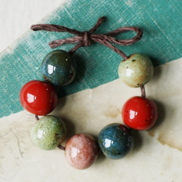 watermelon hues bead set